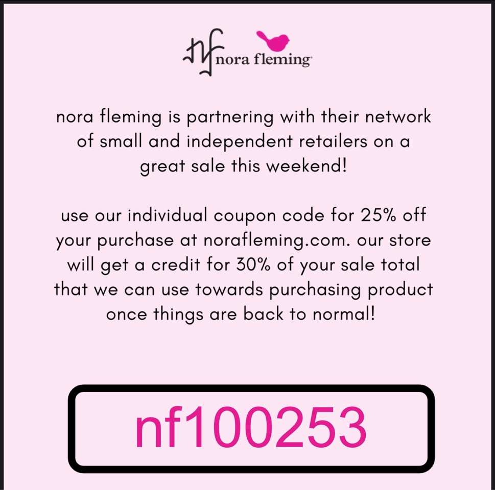 Nora Fleming Sale A Flair For Gifts And Home