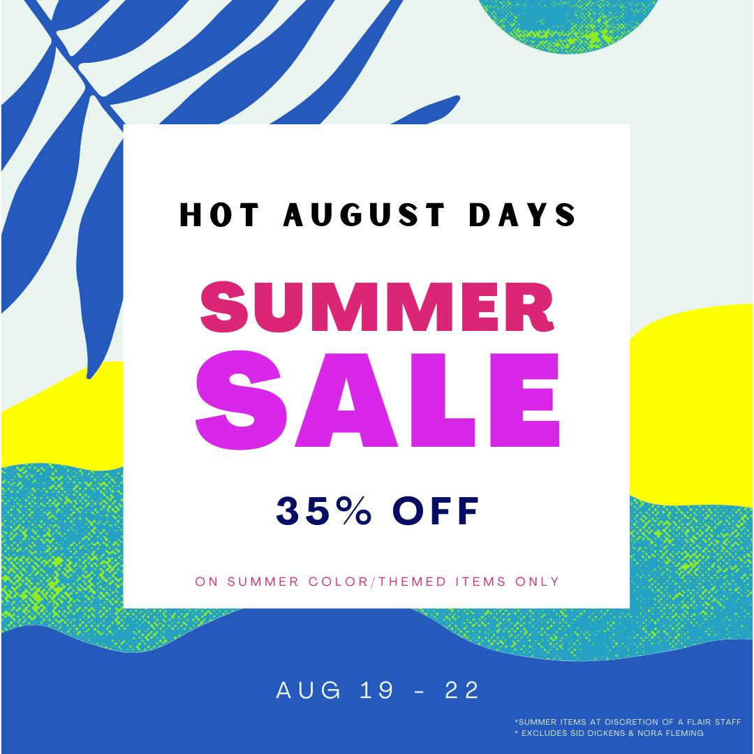 Hot August Days Summer Sale 19-22-2